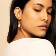 Pearl Hoop Earrings - M.I.M. Earrings