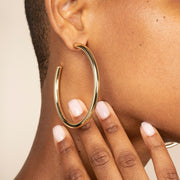 Ana Luisa Earrings Hoop Earrings Tia Large Gold