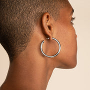 Ana Luisa Earrings Hoop Earrings Tia Medium Silver