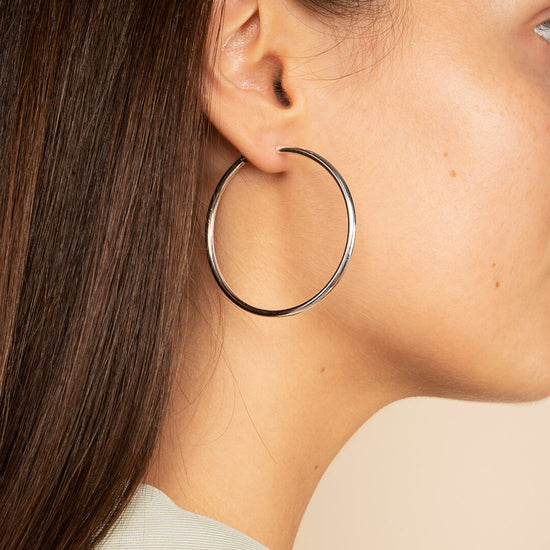Ana Luisa Earrings Hoops Earrings Extra Large Sterling Silver Hoop Earrings Jess