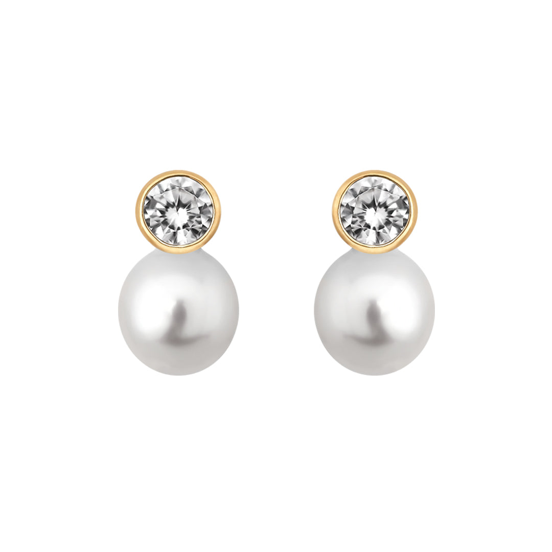Ana Luisa Earrings Pearl Earrings Double Pearl Stud Earrings Fede Gold