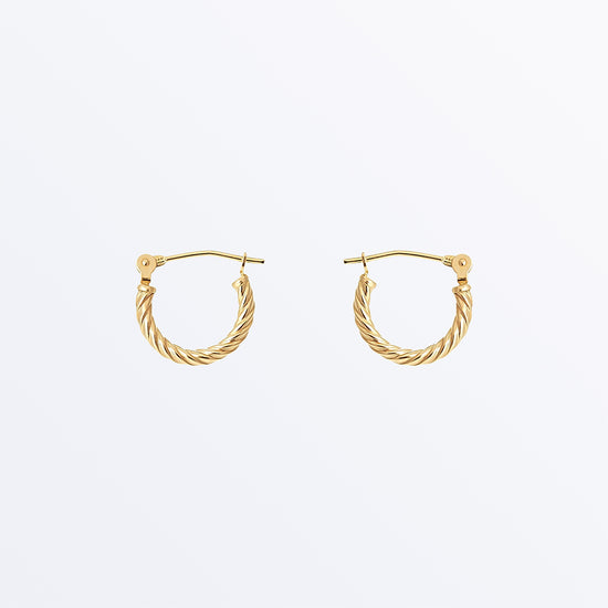 Ana Luisa Earrings Solid Gold Earrings 14K Gold Earrings Mini Twisted