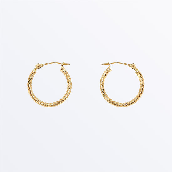 Ana Luisa Earrings Solid Gold Earrings 14K Gold Earrings Small Twisted Hoops
