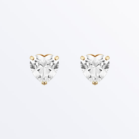 Ana Luisa Earrings Solid Gold Earrings Heart Shaped Earrings Vale