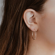 14K Gold Hoop Earrings - Large Hoops