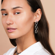 Ana Luisa Earrings Statement Earrings Link Chain Kaia Silver