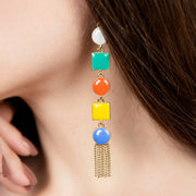 Ana Luisa Earrings Statement Earrings Love Enamel Drop Gold
