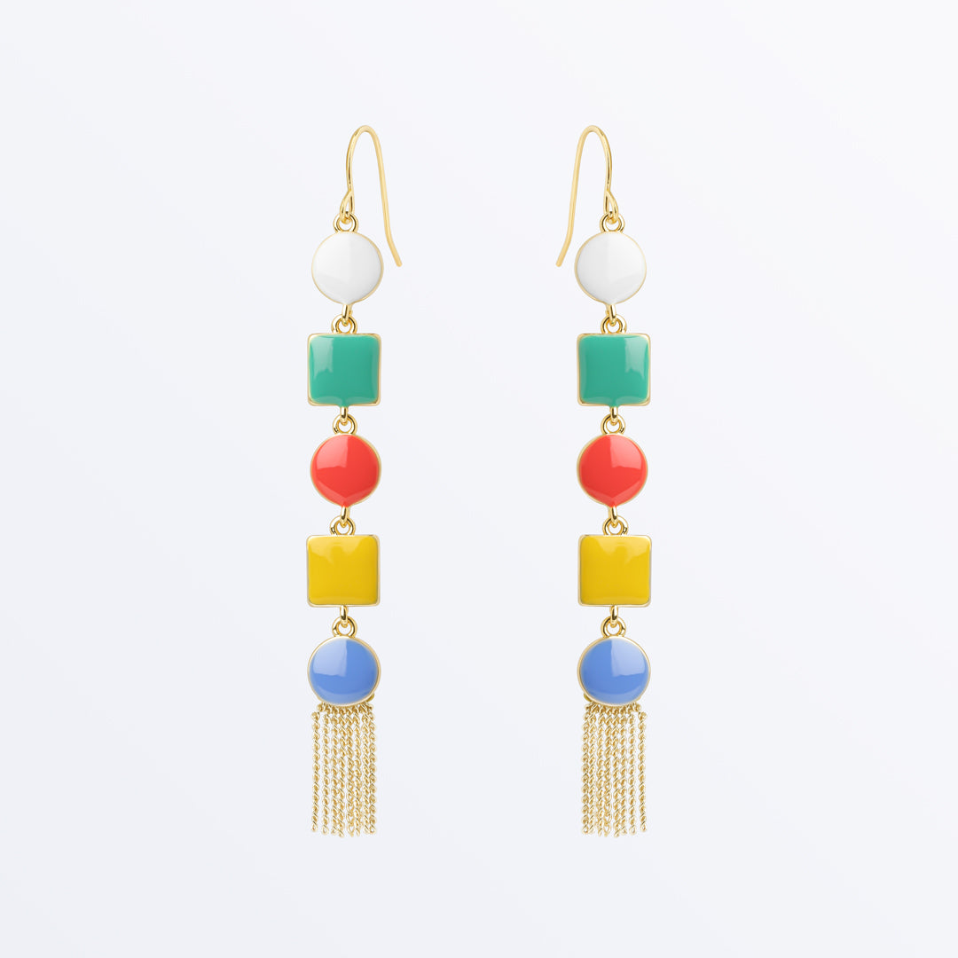 Ana Luisa Earrings Statement Earrings Love Enamel Drop GoldAna Luisa Earrings Statement Earrings Love Enamel Drop Gold