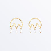 Ana Luisa Earrings Studs Delicate Earrings Freshwater pearl drop earrings  Cloud Gold