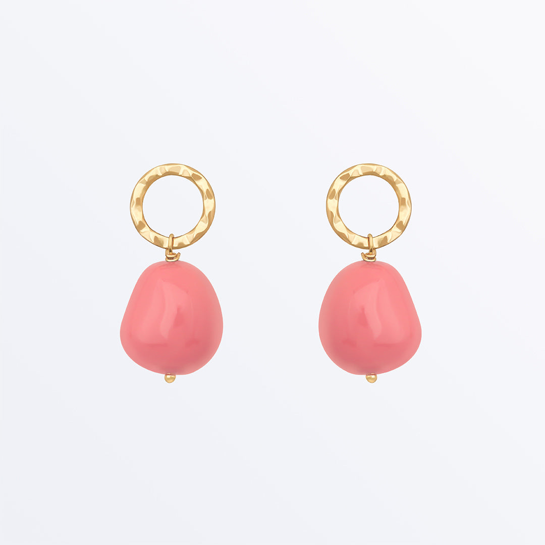 Ana Luisa Earrings Studs Delicate Earrings Pearl Drop Earrings Hope Pink Gold