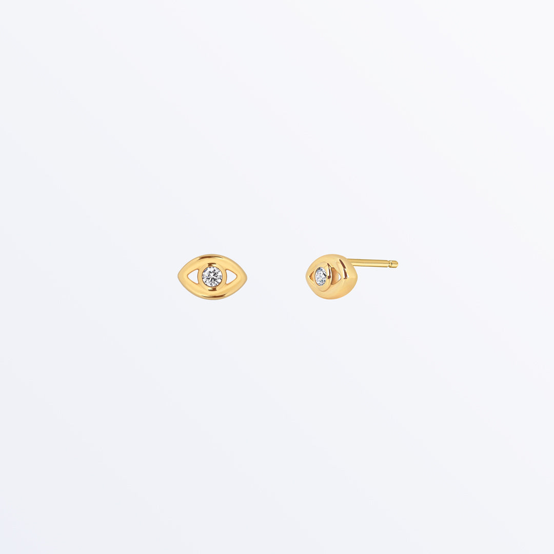 Ana Luisa Earrings Studs Earrings Evil Eye Stud Earrings  Mini Evil Eye Gold