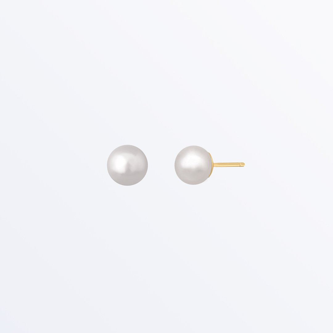 Ana Luisa Earrings Studs Earrings Pearl Stud Earrings Small Organic Pearl Gold Vermeil