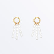 Ana Luisa Earrings Stunds Delicate Earrings Freshwater pearl drop earrings  Sophia Gold.