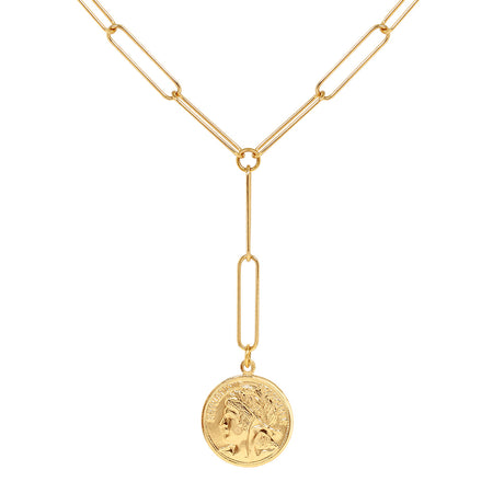 Ana Luisa Necklaces Layered  Necklaces Coin Y Necklace Jenny Gold