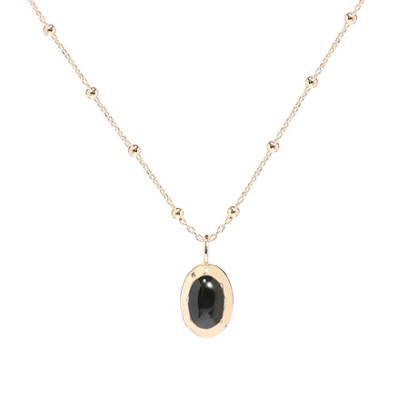 Ana Luisa Necklaces Layered Necklaces Daphne Onyx Gold Black