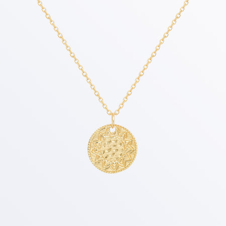 Ana Luisa Necklaces Layered Necklaces Flower Coin Sunny Gold