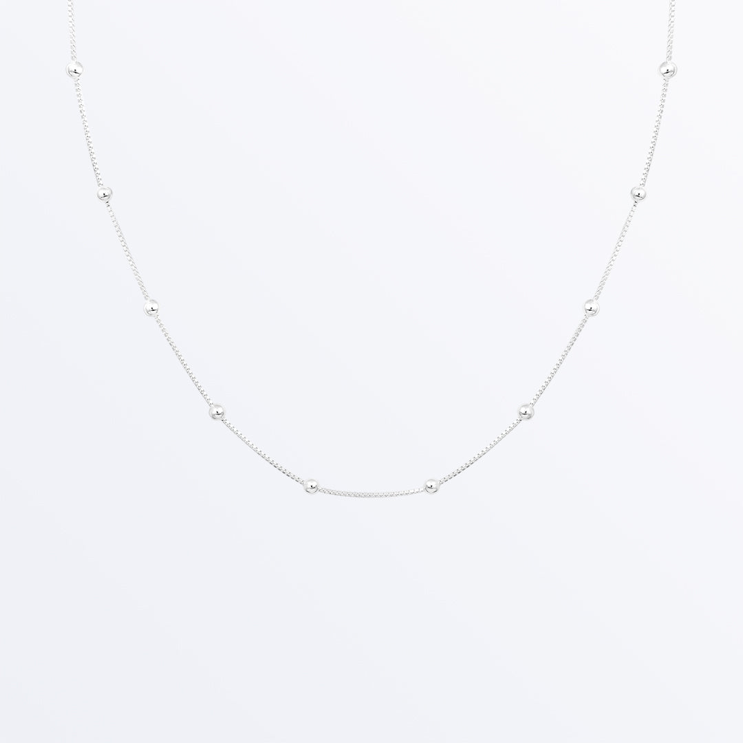 Ana Luisa Necklaces Layered Necklaces Medium Ball Chain Necklace Solid Sterling Silver