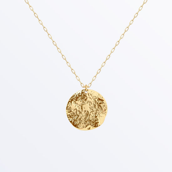 Ana Luisa Necklaces Layered Necklaces Textured Medal Necklace Maya Gold