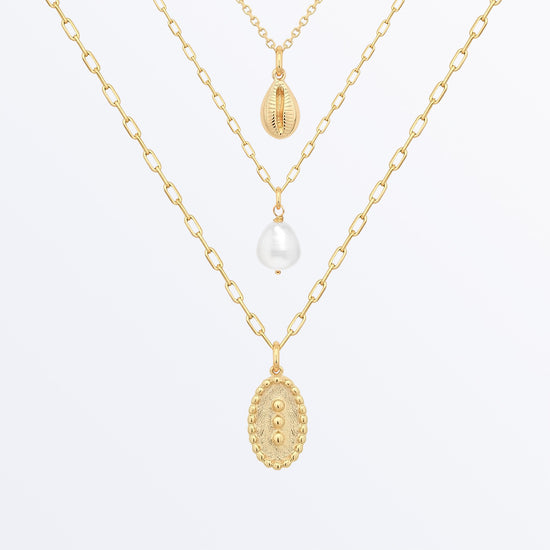 Ana Luisa Necklaces Layered Necklaces Pearl Necklace Set Jenna Gold