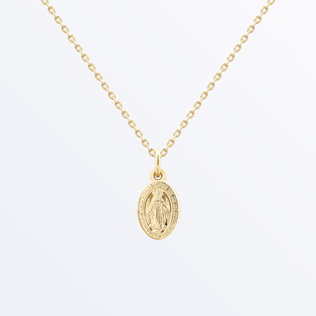 Ana Luisa Necklaces Layered Necklaces Virgin Mary Clara Gold