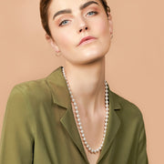 Ana Luisa Necklaces Long Pearl Necklace Celine Silver