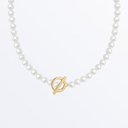 Ana Luisa Necklaces Pearl necklace with toggle clasp Lena Gold