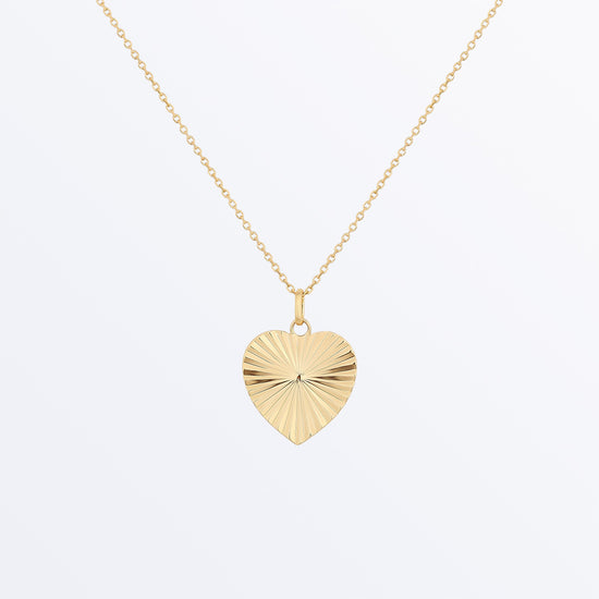 Ana Luisa Necklaces Pendant Necklaces Big Heart Necklace Valentina Gold