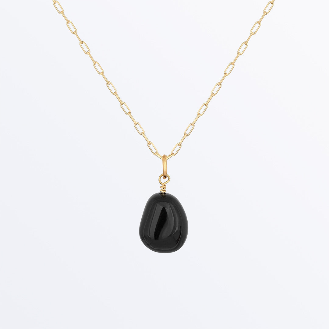 Ana Luisa Necklaces Pendant Necklaces Black Pearl Necklace Naomi Gold