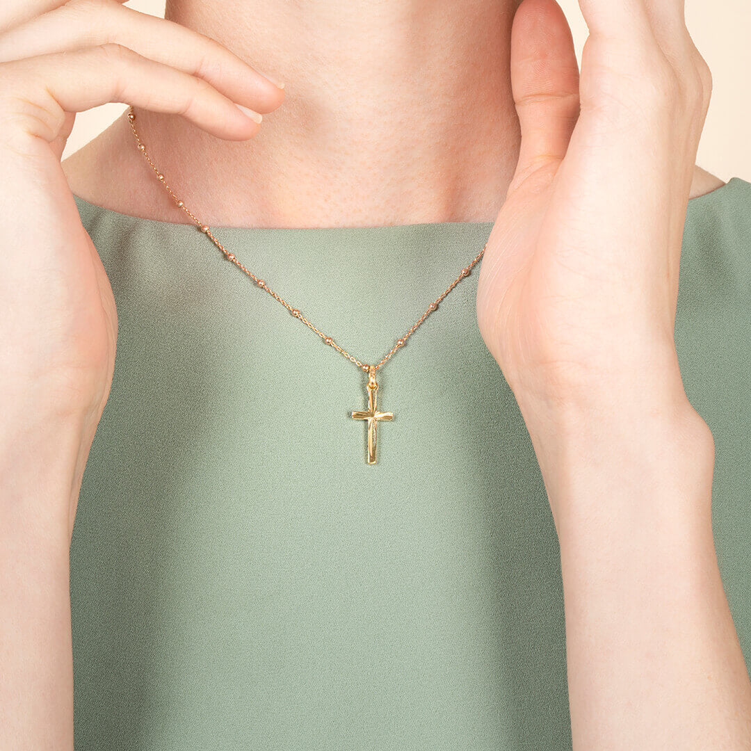 Ana Luisa Necklaces Pendant Necklaces Cross Edna Gold