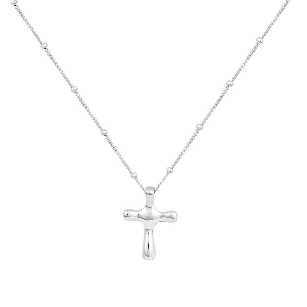 Ana Luisa Necklaces Pendant Necklaces Cross Necklace Judith Solid Sterling Silver