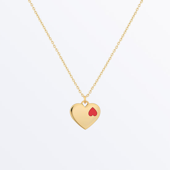 Ana Luisa Necklaces Pendant Necklaces Double Heart Necklace Nina Gold