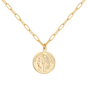 Ana Luisa Necklaces Pendant Necklaces French Coin Djoon Gold