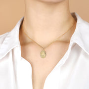 Gold Heart and Cross Necklace - Ina Gold