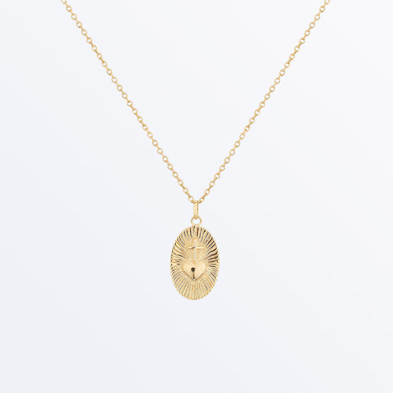 Ana Luisa Necklaces Pendant Necklaces Heart and Cross Necklace Ina Gold