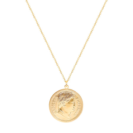 Ana Luisa Necklaces Pendant Necklaces Napoleon Coin Gold