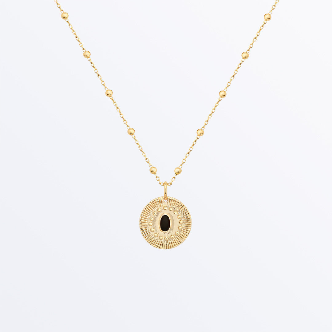 Ana Luisa Necklaces Pendant Necklaces Onyx Charm Necklace Estelle