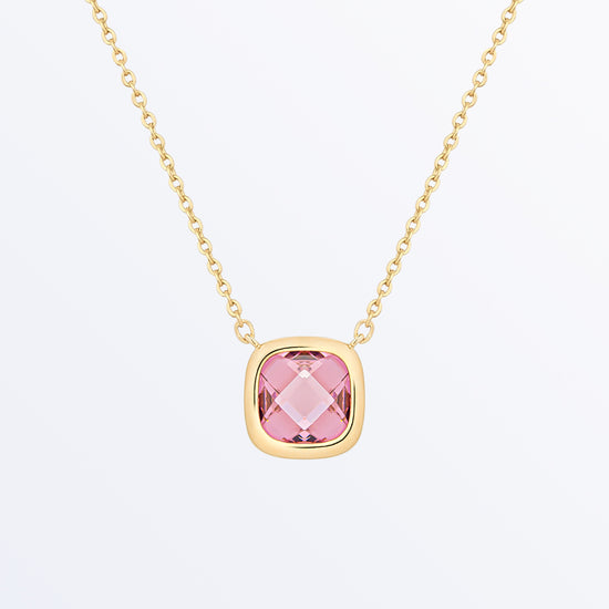 Ana Luisa Necklaces Pendant Necklaces Stone Necklace Palace Rosé Pink Gold
