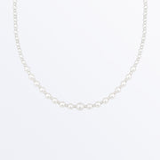 Ana Luisa Necklaces Short Pearl Necklace Miu Silver