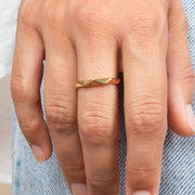 Ana Luisa Ring Band Ring Faceted Ring Rosa Gold
