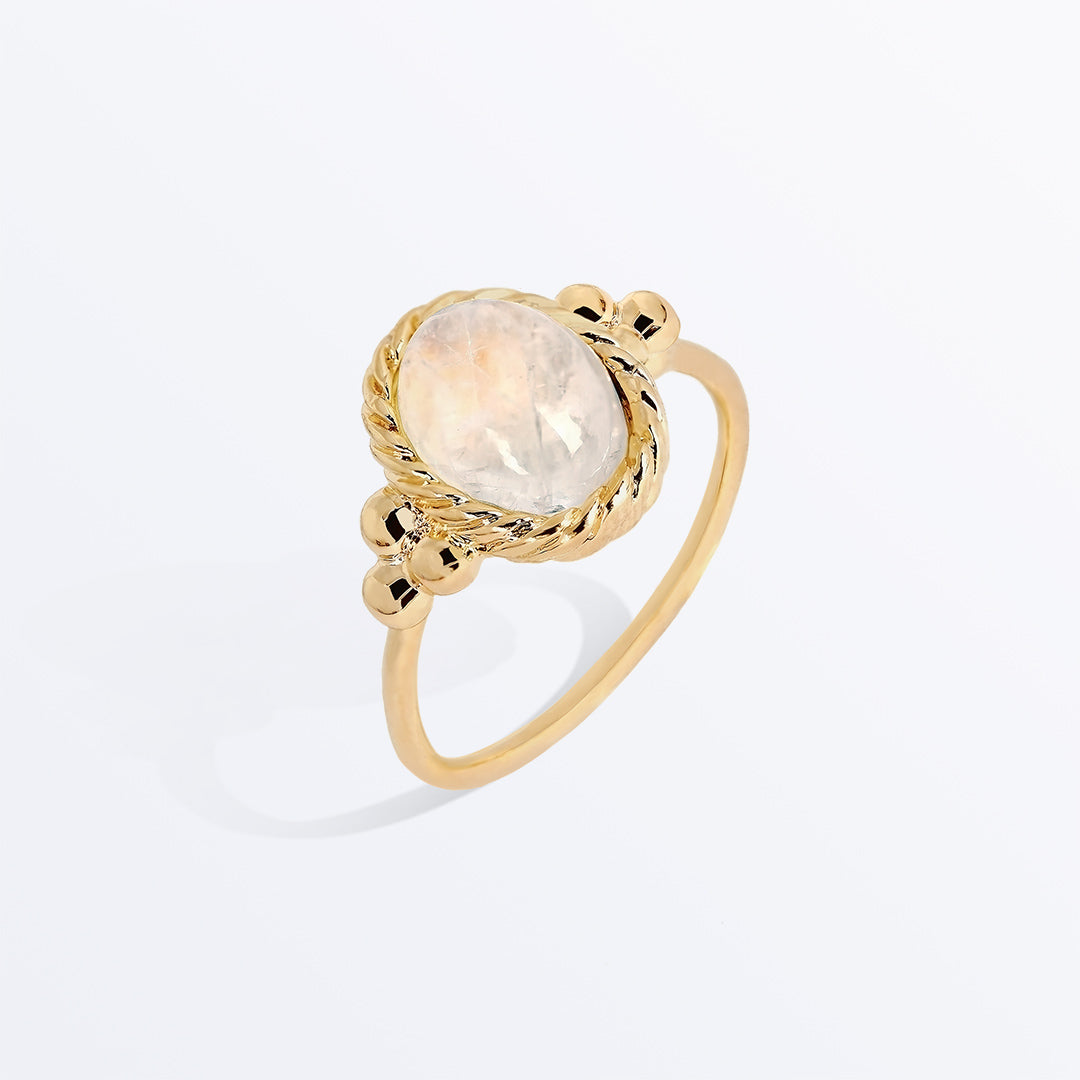 Ana Luisa Rings Gemstone Rings Pim Moonstone Gold