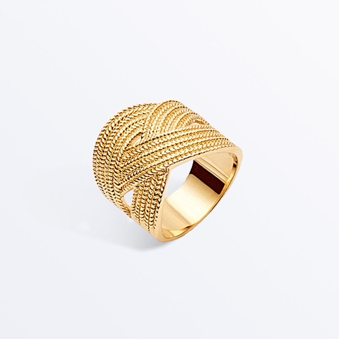 Ana Luisa Rings Signet Rings Adele Cocktail Gold