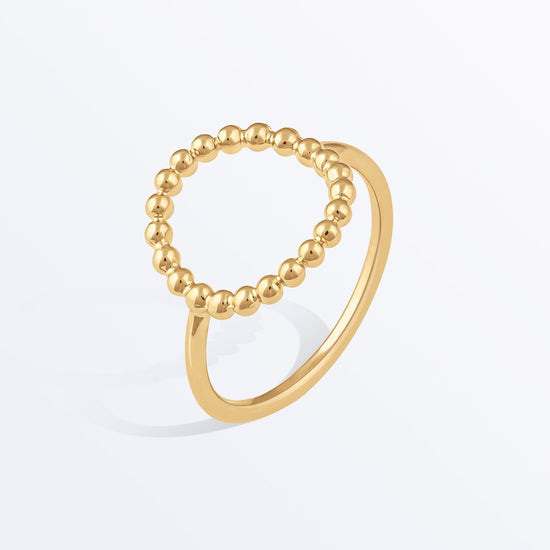 Ana Luisa Rings Stacking Rings Gold Bead Ring Verona Gold