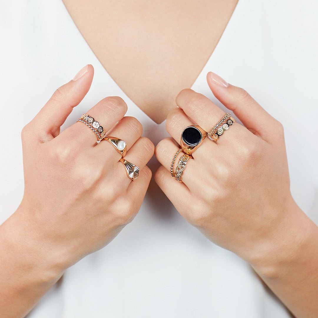 Stackable Sun Ring - Sol | Ana Luisa