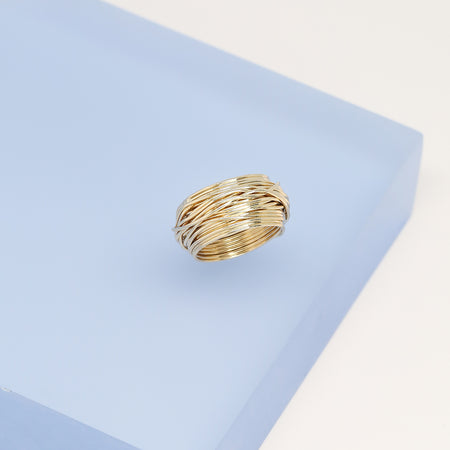 Gold Textured Ring - Harper