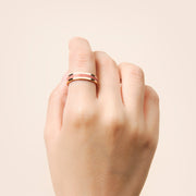 Ana Luisa Stacking Rings Mecca Gold Lacquer Ring Colar