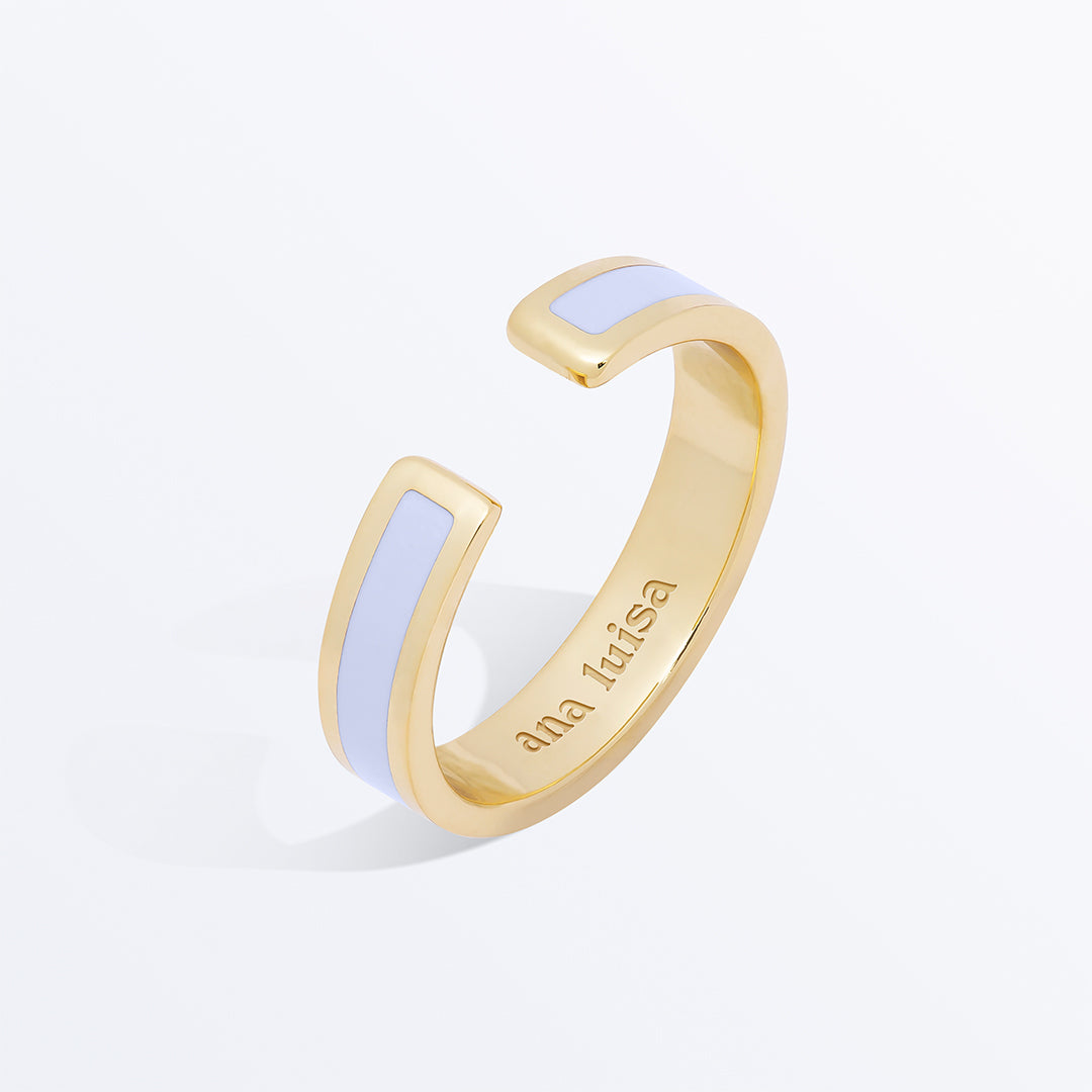 Ana Luisa Stacking Rings Mecca Gold Lacquer Ring Lavander