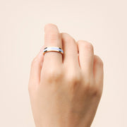 Ana Luisa Stacking Rings Mecca Gold Lacquer Ring Lavender