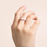 Ana Luisa Stacking Rings Mecca Gold Lacquer Ring Pink