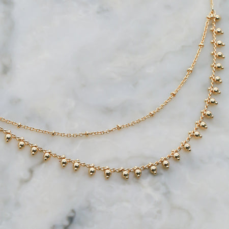 Gold Mia Layered Necklace