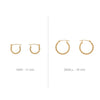14K Gold Earrings - Small Twisted Hoops